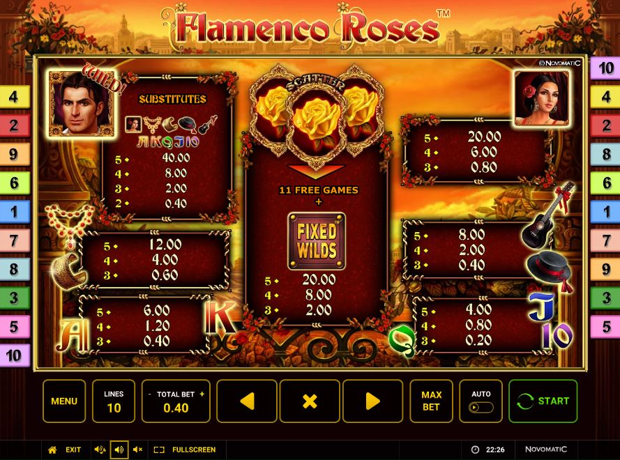 Spiele Flamenco Roses - Video Slots Online