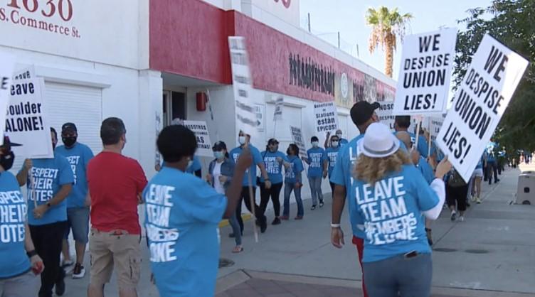 Stations Casinos Hosts Picket Line Outside Culinary Union, Las Vegas Labor Union Laugh