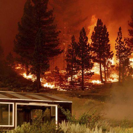Smoke Sheaths Lake Tahoe Casinos as Massive Blaze Looms
